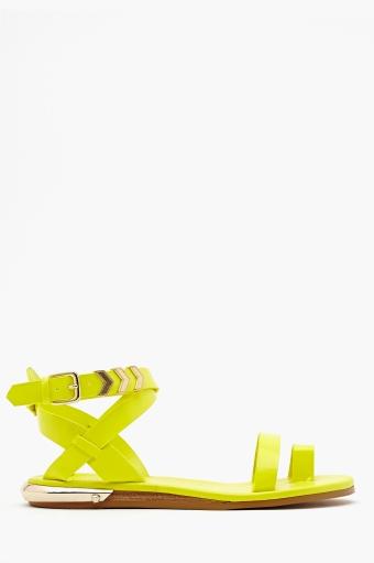 Zealand Sandal - Neon Yellow