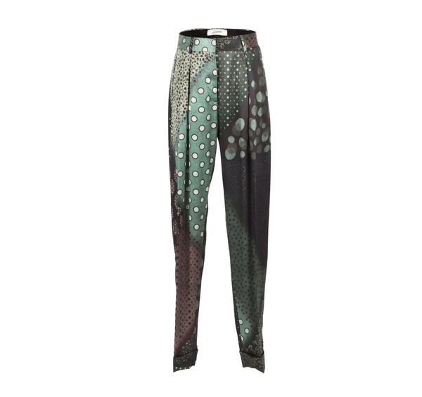 Mix Print Silk Pants by Jean Paul Gaultier