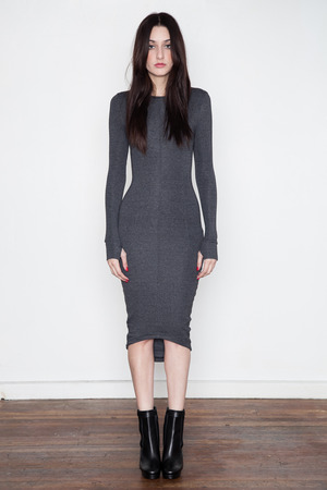 Funktional Panel Dress - Charcoal