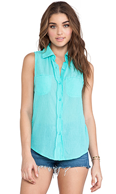 Gauze Button Down Tank // Bobi