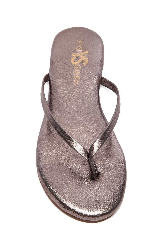 Rose Metallic Sandal in Pewter // Yosi Samra
