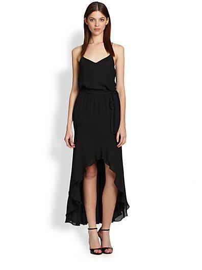 Hi-Lo Silk Dress // Haute Hippie