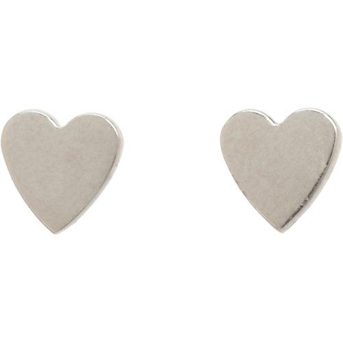 White Gold Heart Studs // Jennifer Meyer