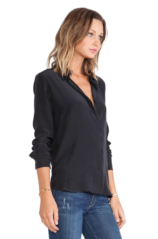 FRAME Shirt Le Classic Top in Noir // FRAME Denim