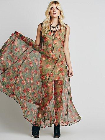 Floral Sheer Maxi