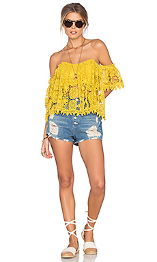 X Revolve Amelia Top in Yellow