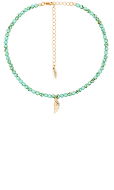 Leaf Choker in Turquoise