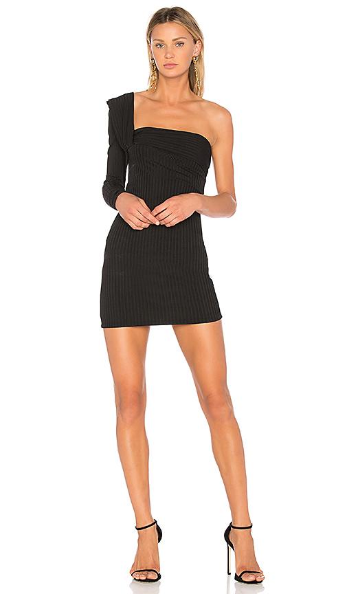 One Shoulder Mini Dress                                            Baja East