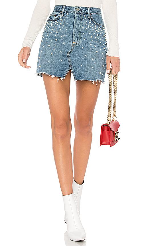 Milla Embellished A-Frame Skirt