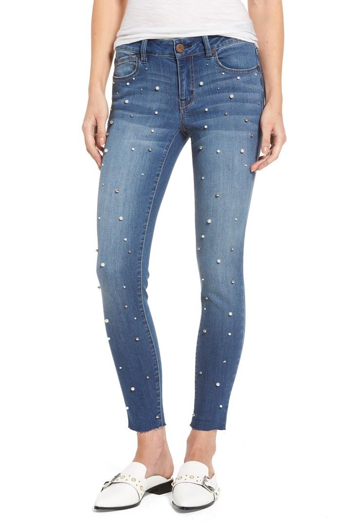 Denim Pearl Skinny Jeans