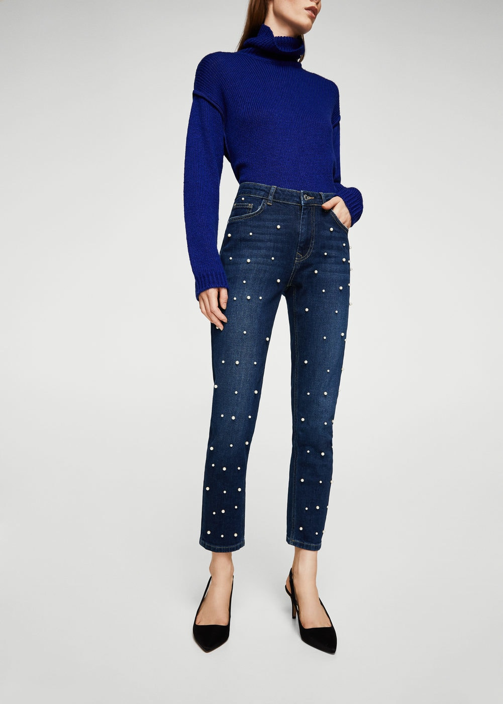 Pearls Straight Jeans