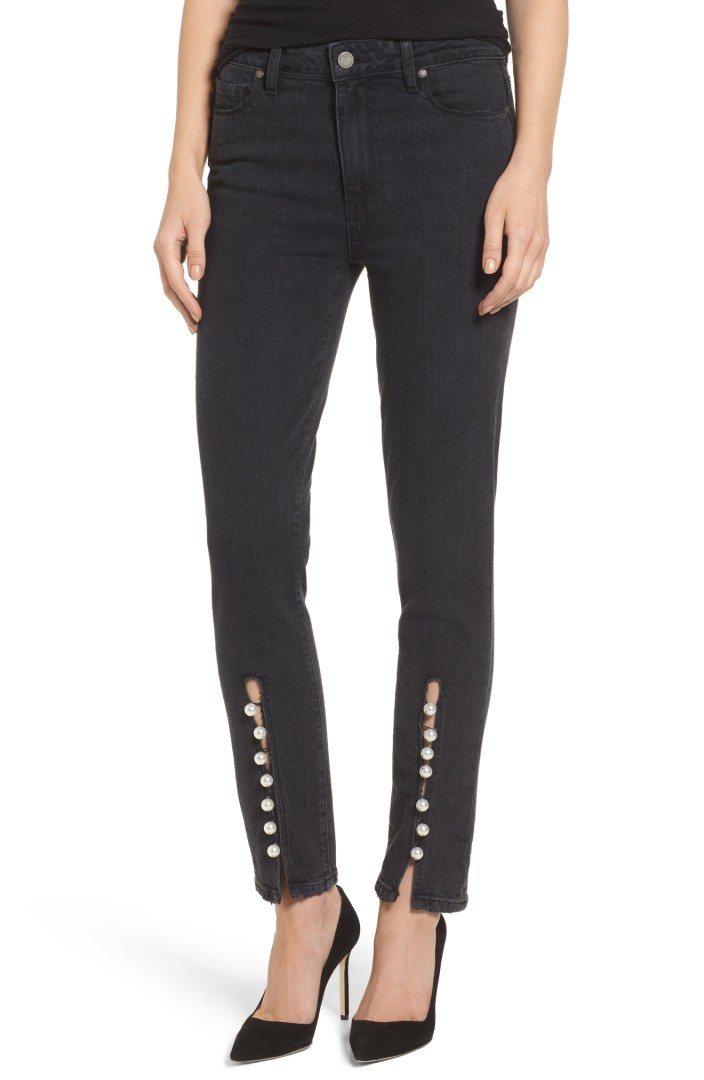 Julia High Waist Straight Leg Jeans (Mother of Pearl)