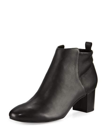 Betsy Leather Block-Heel Bootie