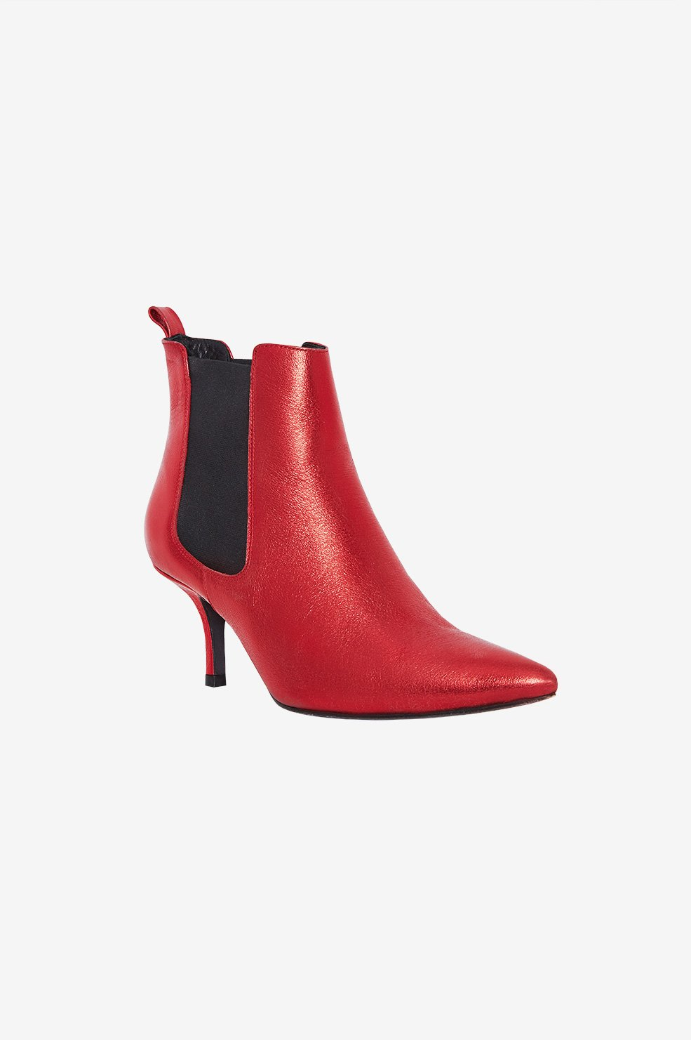 STEVIE BOOTS - RED METALLIC
