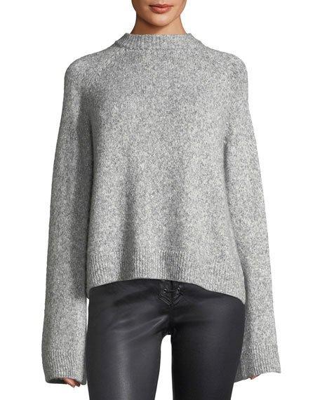 Noelle Mock-Neck Wool-Blend Sweater