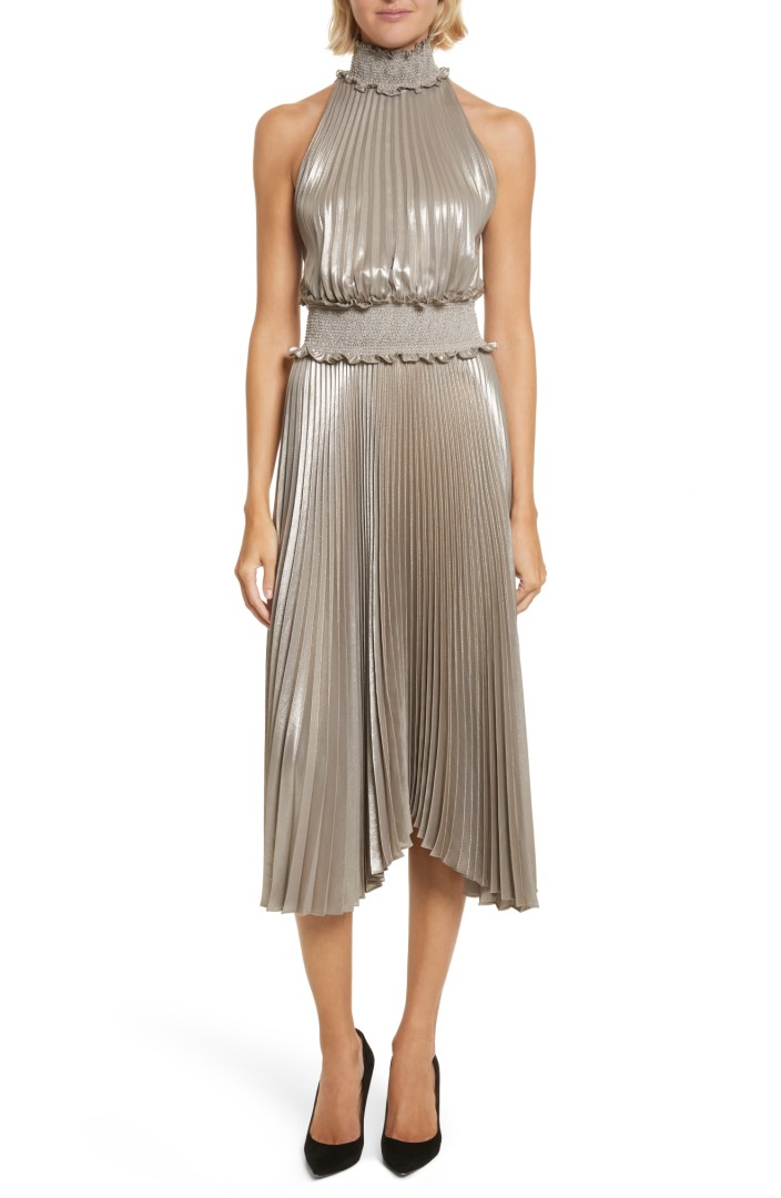 Kravitz Pleated Midi Dress