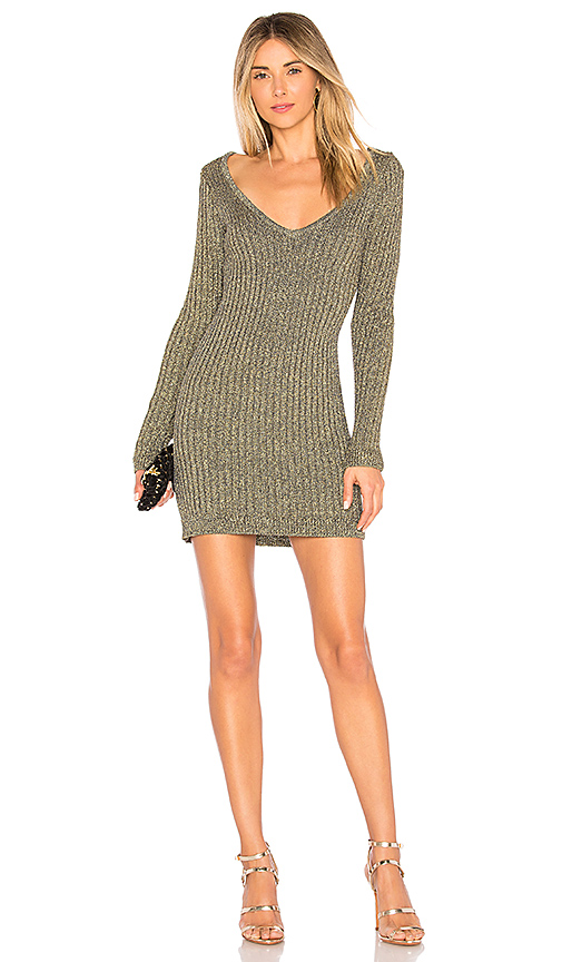 Sparkle Knit Metallic Long Sleeve Dress