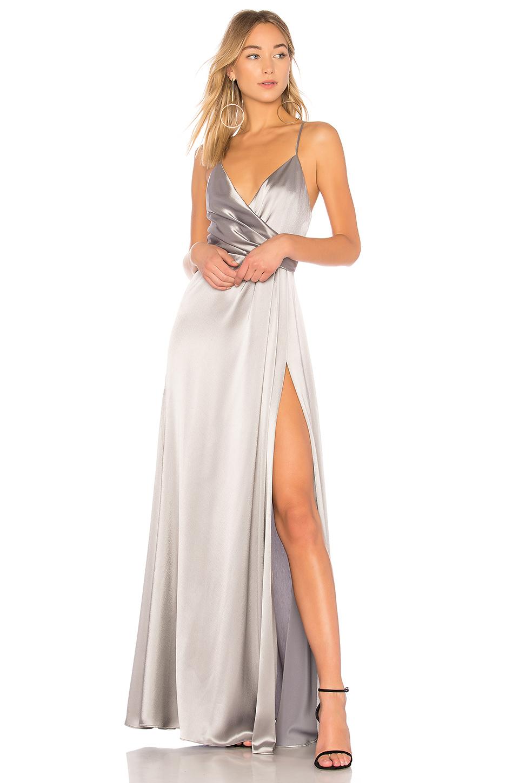 Metallic Wrap Gown