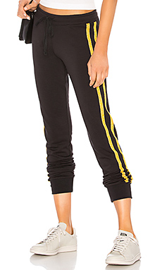 Declan Trackpant in Black & Gold