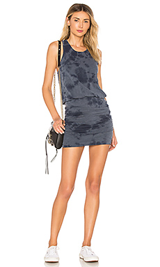 Tie Dye Ruched Dress                                             SUNDRY