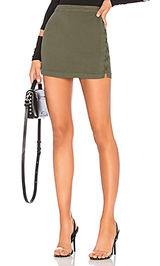 Lace Up Utility Mini Skirt                                             Chaser