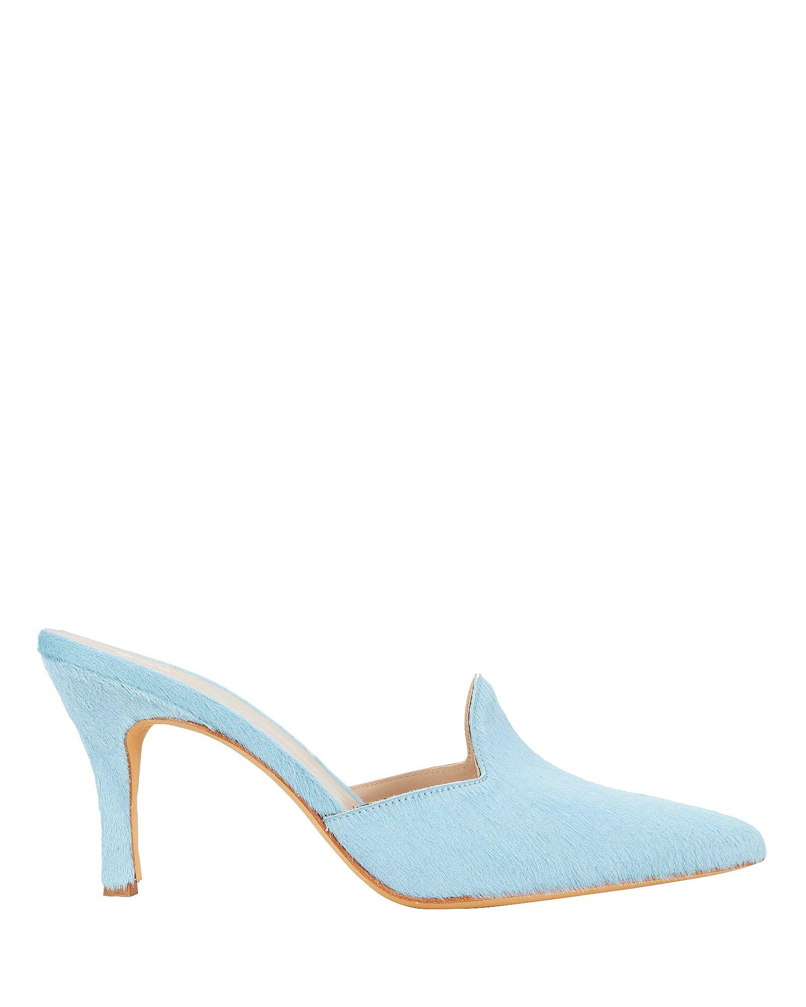 Pierre Haircalf Blue Mules