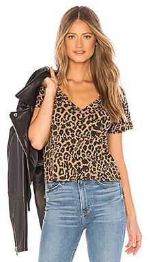 Leopard V Neck Tee                                             LNA