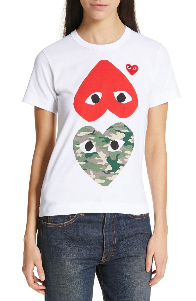 PLAY Camo Double Heart Tee