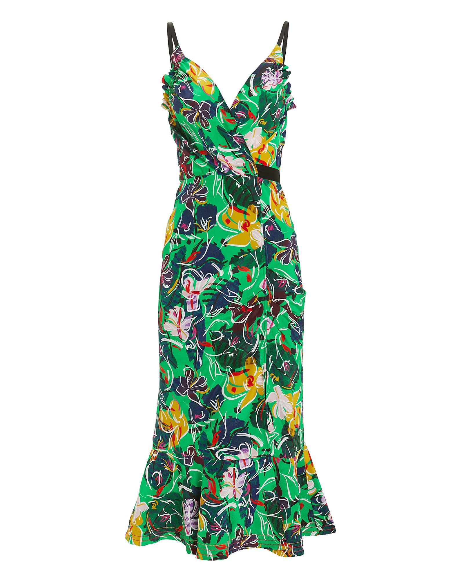 Jennie Ruffle Silk Dress