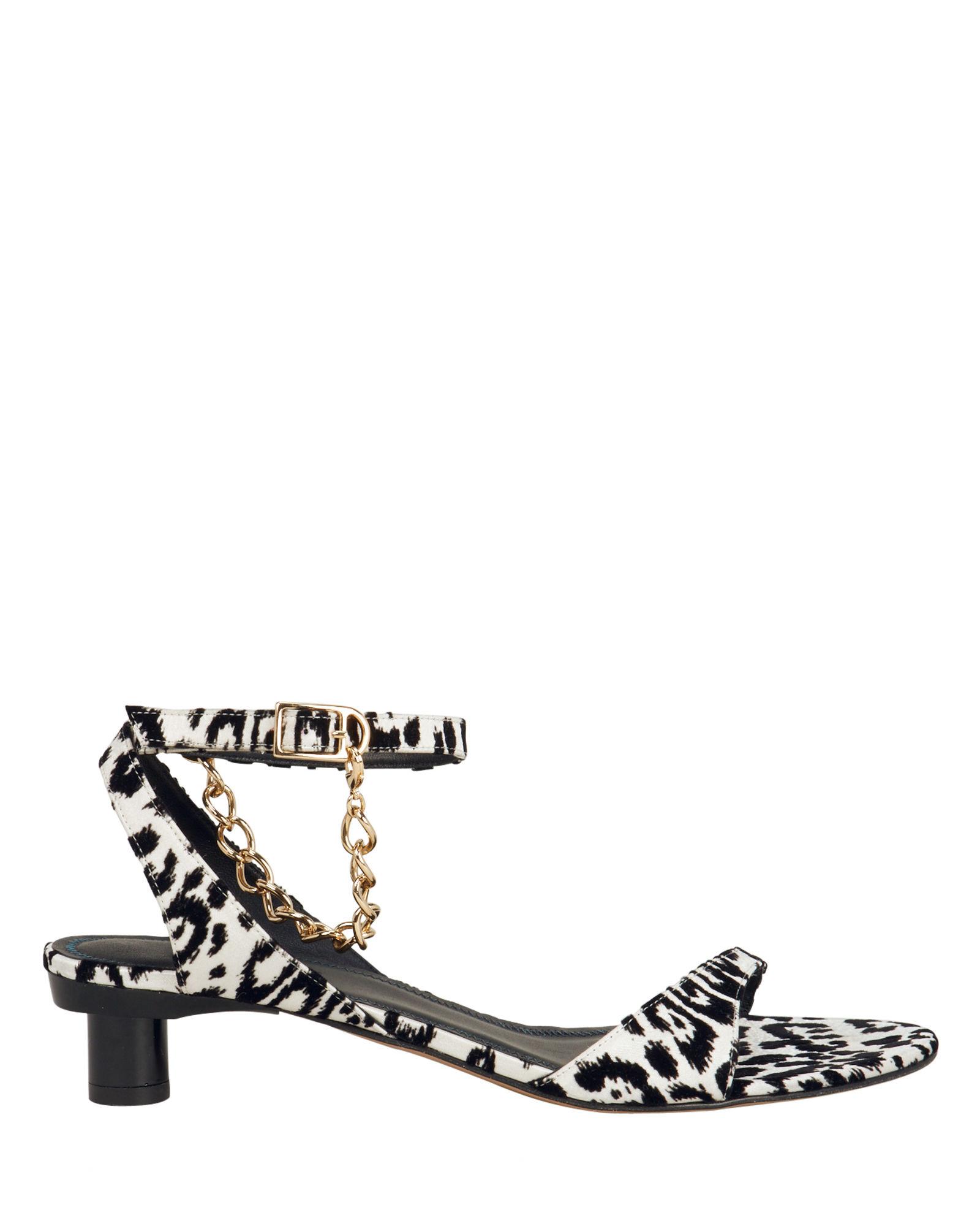 Nathan Dalmatian Chain Kitten Heels
