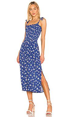 Tie Shoulder Smocked Maxi Dress                     1. STATE
