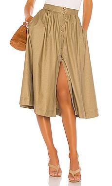 The Maxime Midi Skirt                     L\'Academie