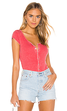 Short Sleeve Snap Front Henley Top                     Chaser