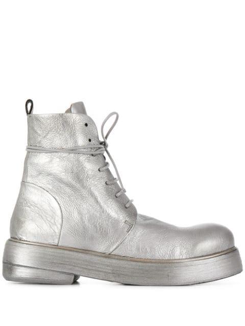 Marsèll Metallic Military Boots - Farfetch