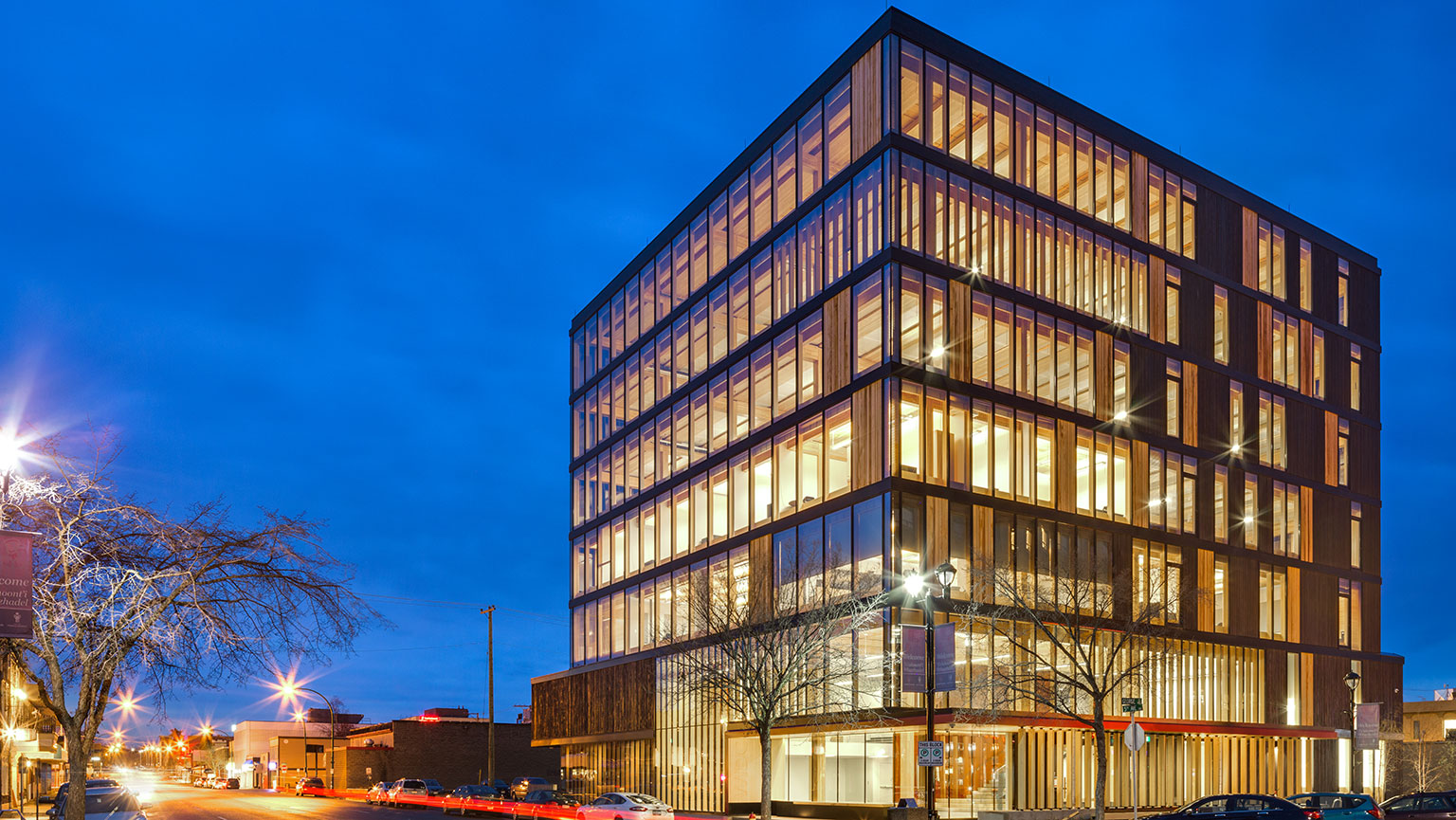 Photograph of WIDC by Ema Peter/courtesy of Michael Green Architecture
