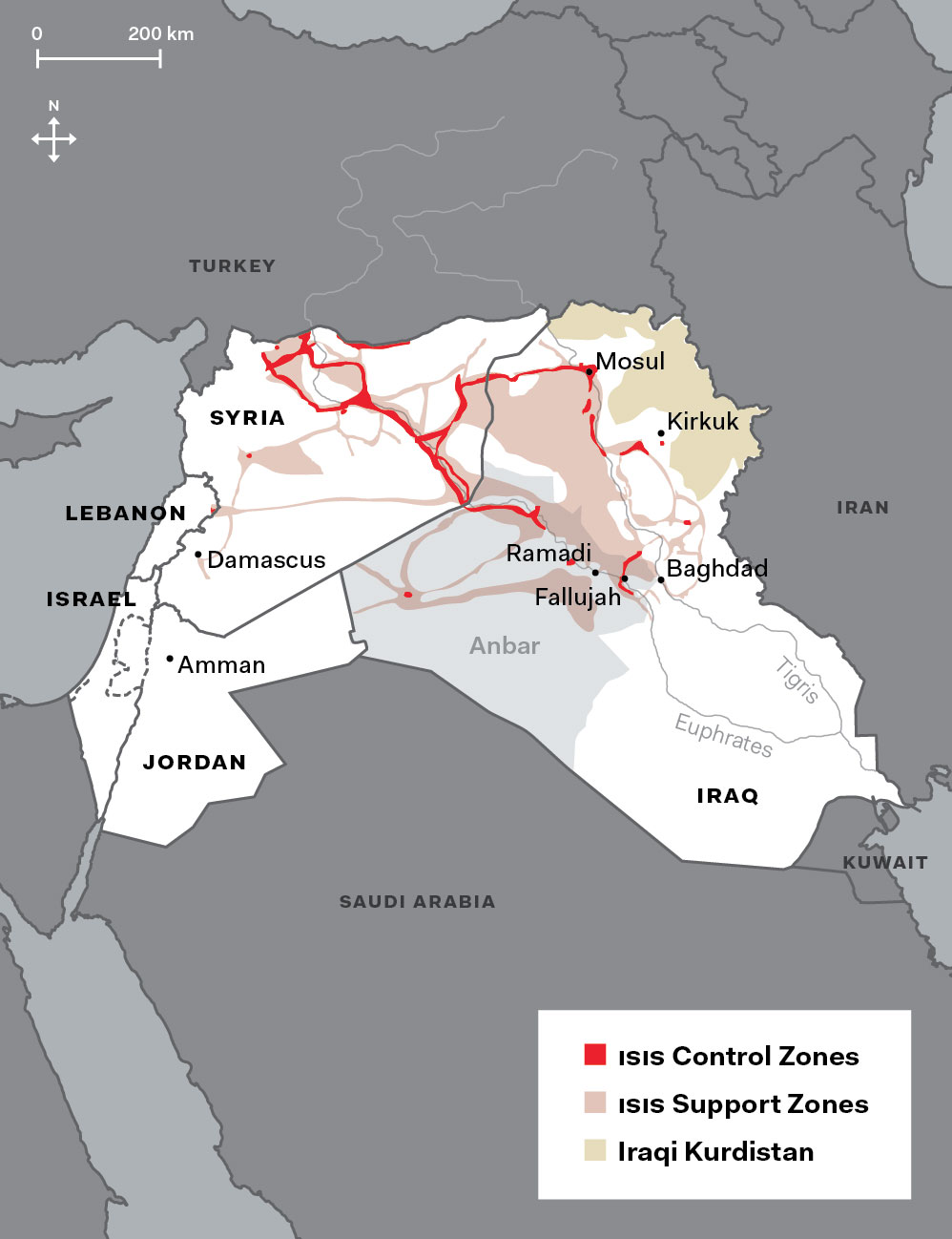 Map by Meredith Holigroski/data from the Institute for the Study of War (April 2015)