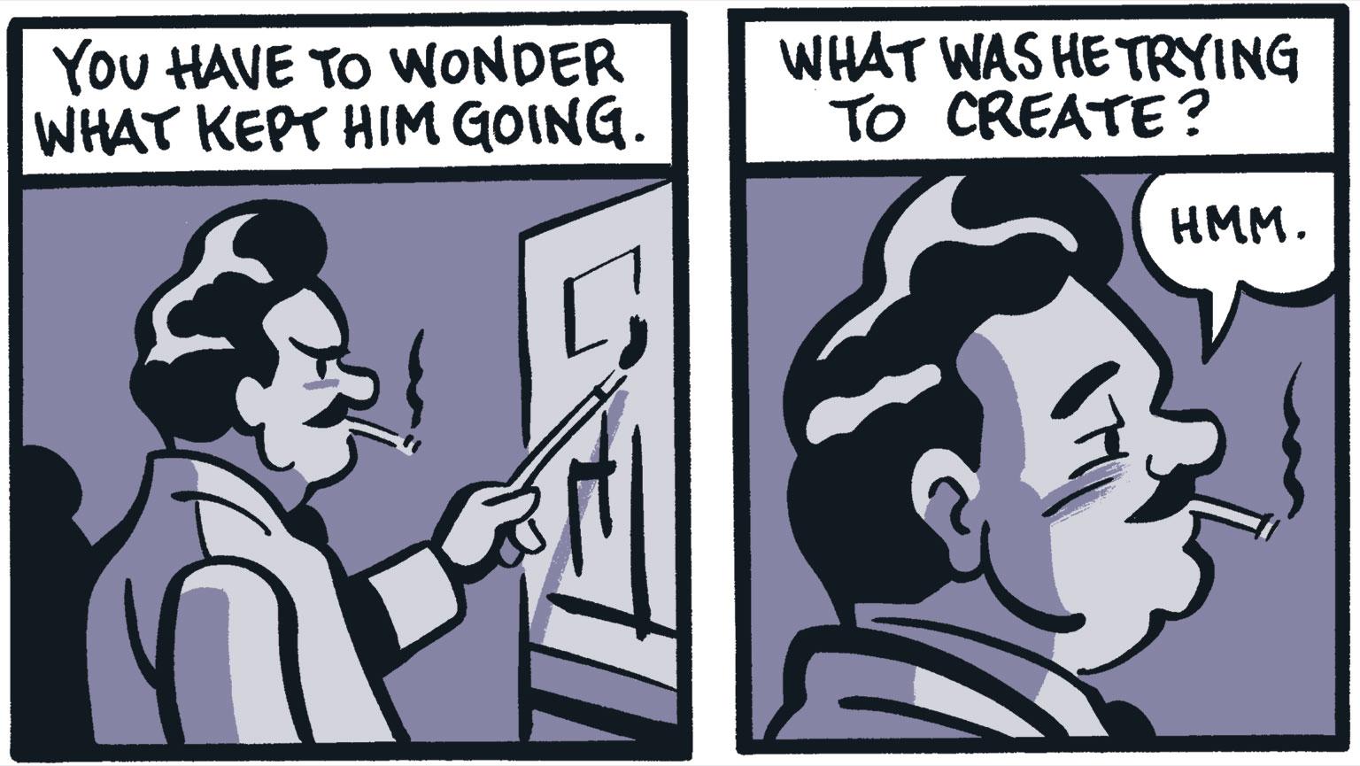 Comic detail by Seth