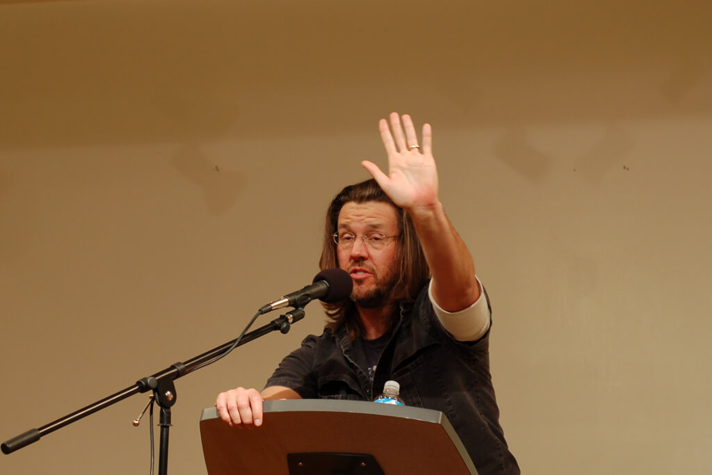 Photograph of David Foster Wallace by Steve Rhodes / Flickr