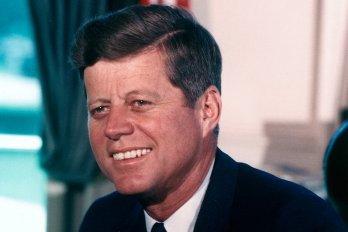 President John F. Kennedy in the Oval Office on July 11, 1963
