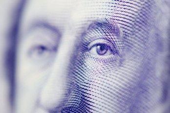 Photography a Face on a Dollar Bill