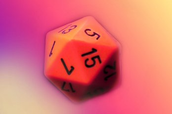 Image of a Twenty-Sided Die Used for Tabletop Gaming