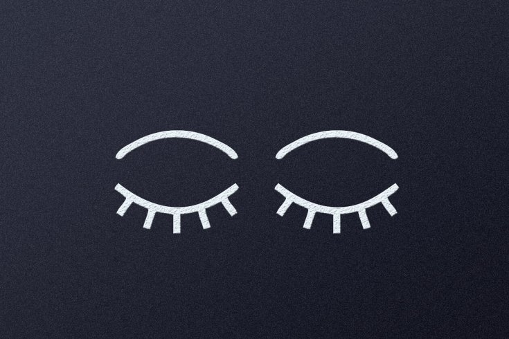 Illustration of Two Closed Eyes