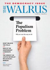 Cover of the October issue of The Walrus magazine.