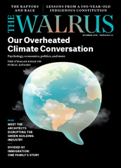 Cover of the November issue of The Walrus magazine.