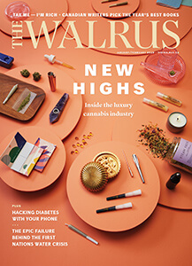 Cover of the Jan Feb issue of The Walrus magazine.