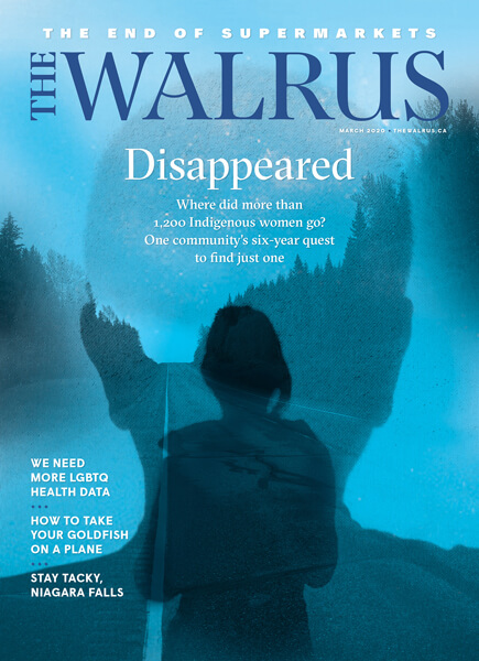 Cover of the March issue of The Walrus magazine.