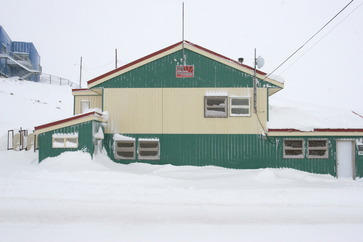 The old West Baffin Eskimo Co-operative buildings in Cape Dorset, Nunavut.