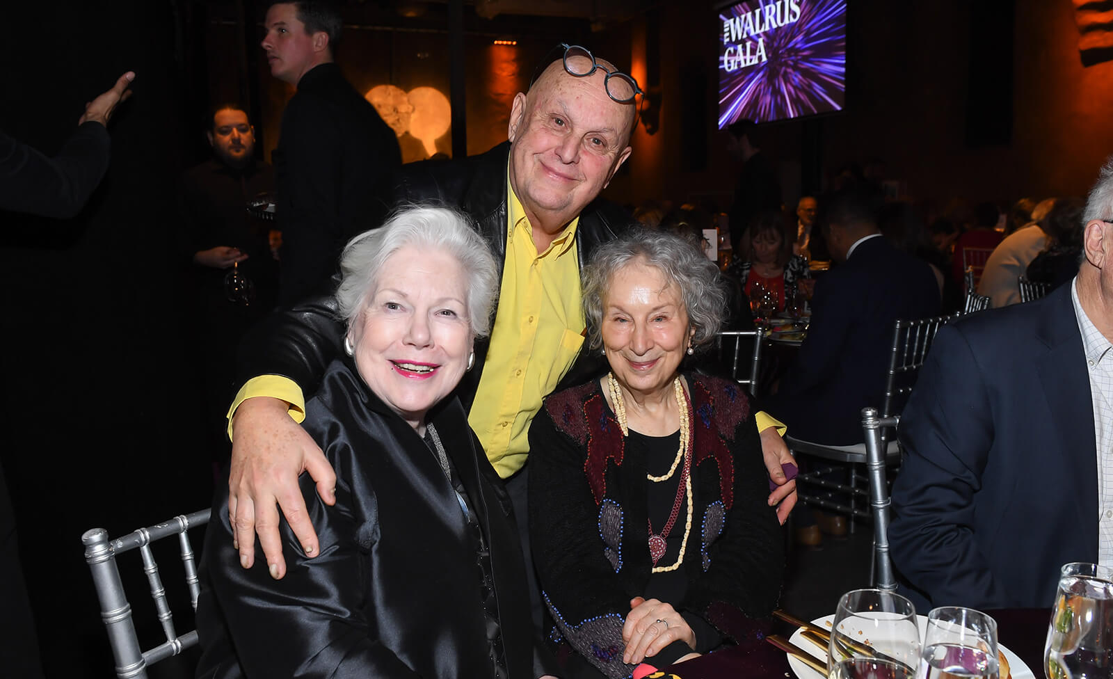 Margaret atwood at guests at the walrus gala