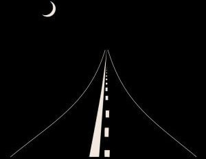 Highway on a black background