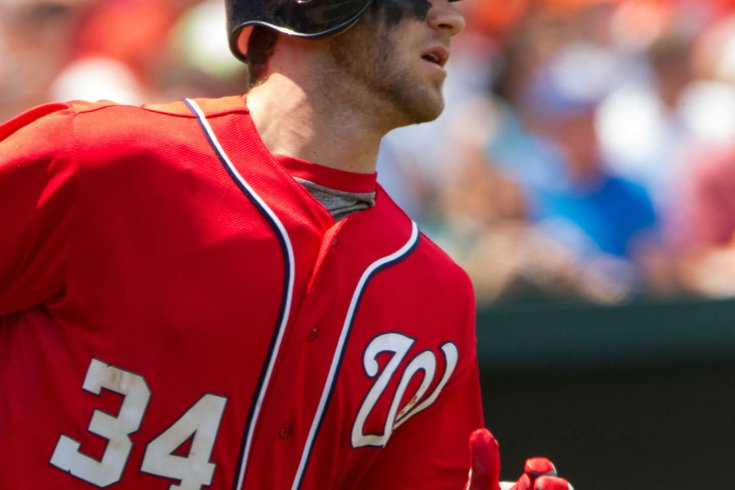 Photograph of Bryce Harper by Keith Allison